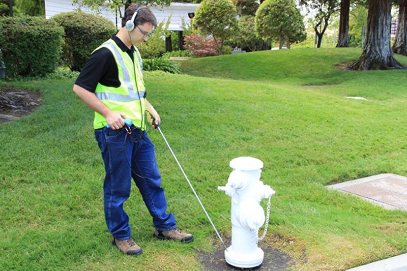 caça vazamento em hidrantes